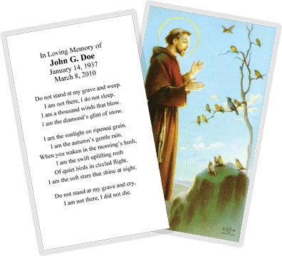 Boston prayer card company